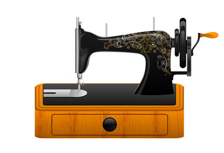 old spools: Retro sewing machine