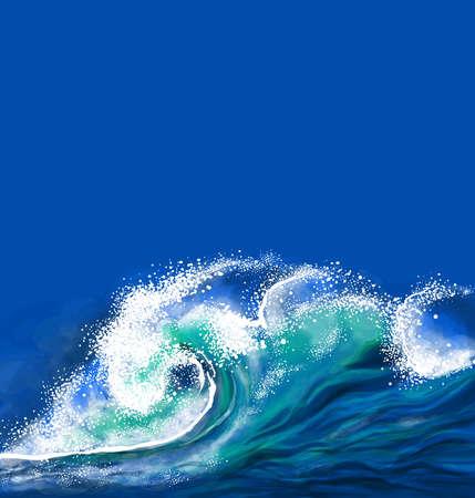 Ola de mar Ilustración de vector