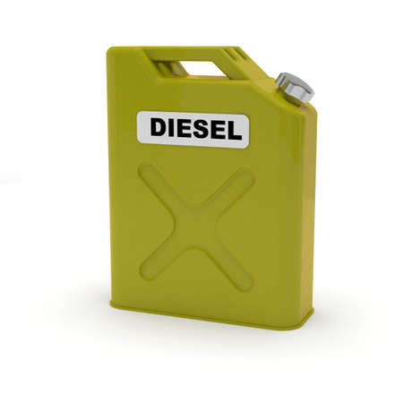 Diesel jerrycan isolated Stock Photo - 19607052