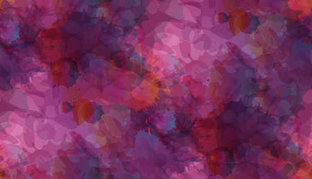 Grunge colorful paint splashes seamless pattern Vector