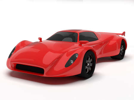 Red race car isolated Stock Photo - 20017855