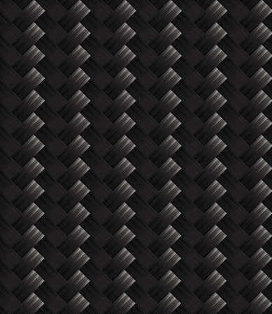 carbon fibre: Diagonal carbon fabric texture Illustration