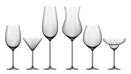 glasswork: Realistic set of glasses for alcohol drinks