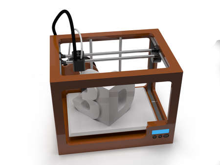 impresora: Impresora 3D Foto de archivo