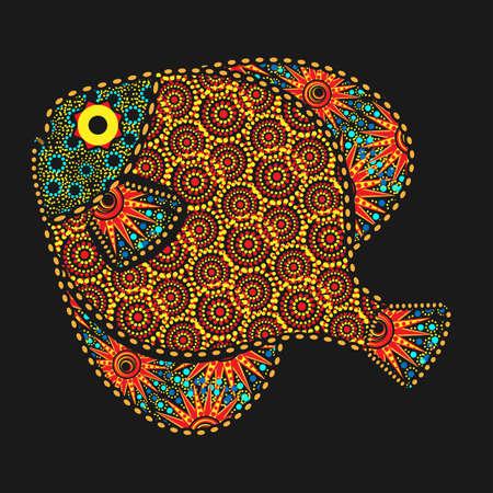 African motives fish Ilustração