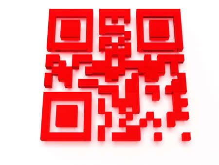 Render of QR code Stock Photo - 20891765