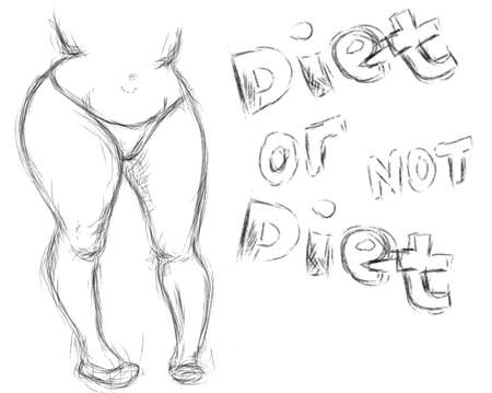 fat belly: Diet sketch