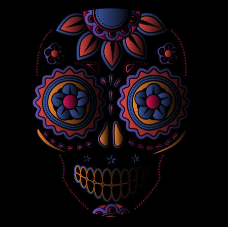 dia de los muertos: Day of the dead sugar skull