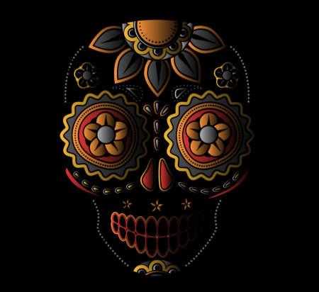 skull and flowers: D?del cr?o muerto del az?