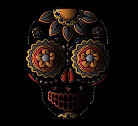 mexican: Day of the dead sugar skull