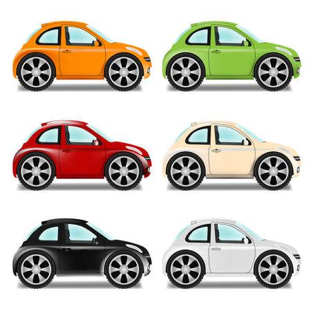 smallest: Mini car with big wheels, six colors