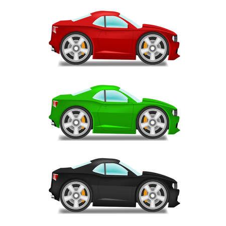 drag race: Cartoon muscle car