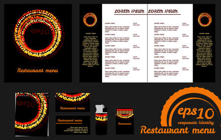 Restaurant menu design template an mockup Vector