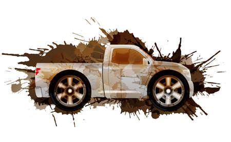 pickup: Dirty puckup with big wheels