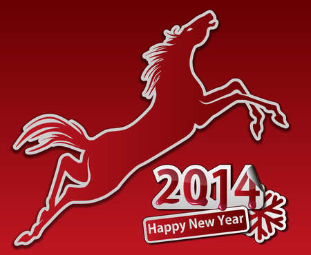 Saut � cheval. Happy new year.