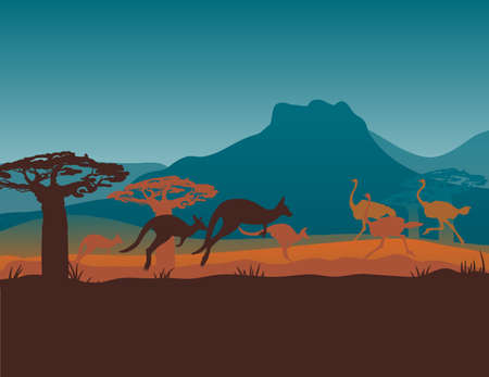 Australia travel design template Ilustrace
