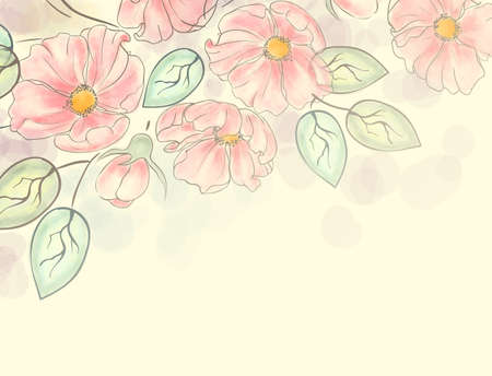 marigold: Watercolor floral ornament