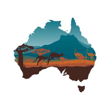 Australia travel design template Stock Vector - 22182531