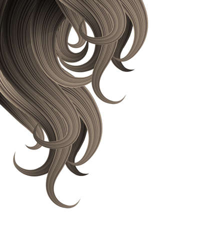 hair clip: Hair style and haircare design template Illustration