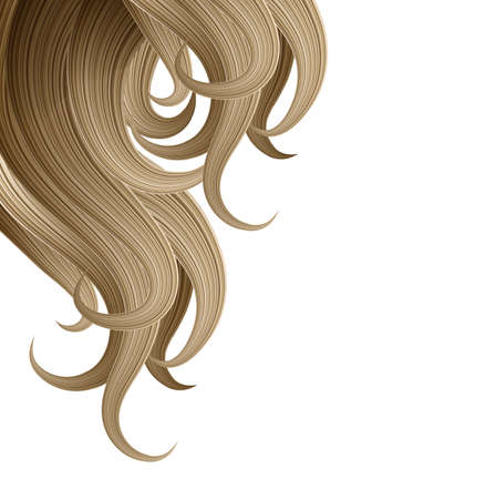 haircare: Hair style and haircare design template Illustration
