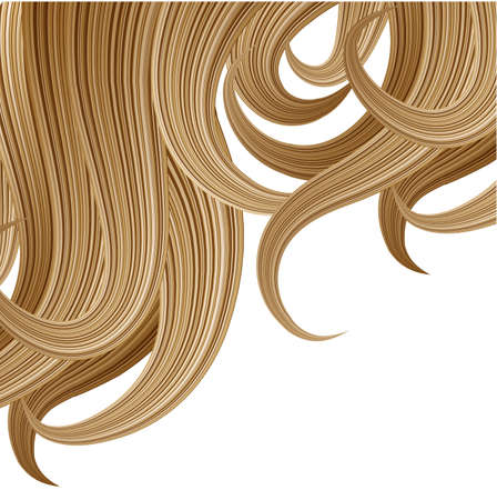 Hair style and haircare design template Stock Vector - 22131784