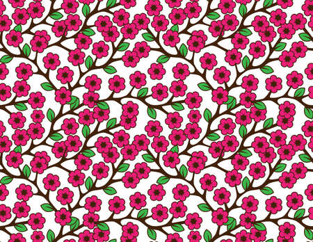 Floral semless rustic pattern Stock Vector - 22428348