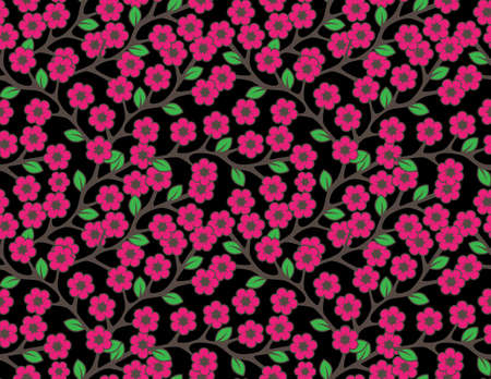 Floral semless rustic pattern Stock Vector - 22428334