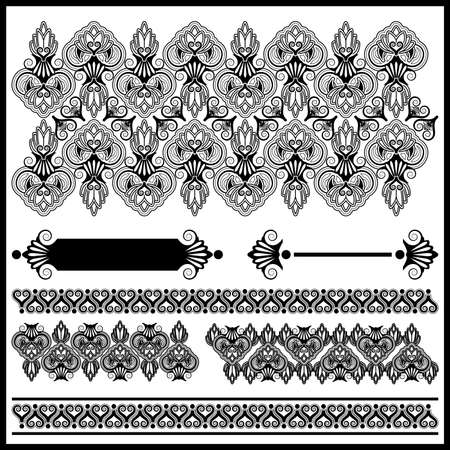 Baroque elements set Stock Vector - 22428350