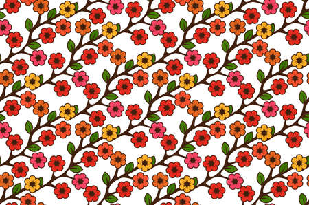Floral semless rustic pattern Stock Vector - 22446841