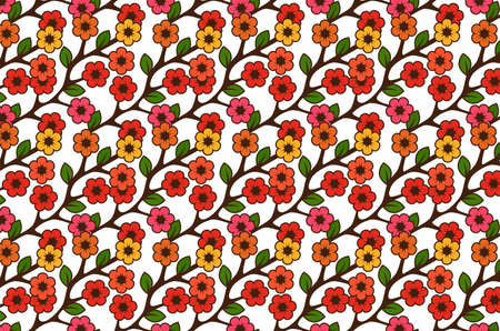 Floral semless rustic pattern Stock Vector - 22446842