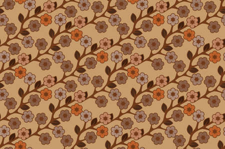Floral semless rustic pattern  Stock Vector - 22446843