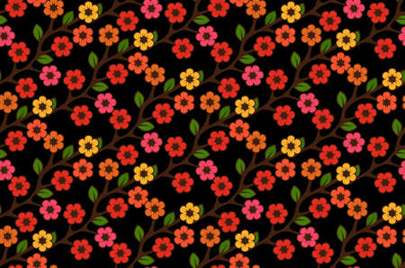 Floral semless rustic pattern Stock Vector - 22446844