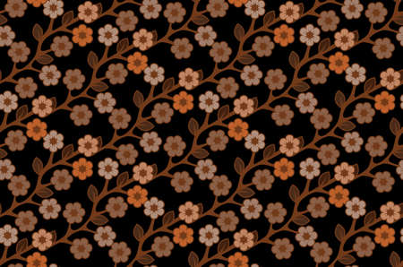 Floral semless rustic pattern  Stock Vector - 22446846