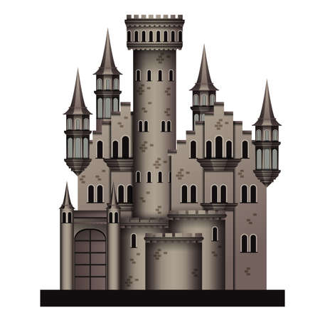 castillo medieval: Castillo medieval Vectores