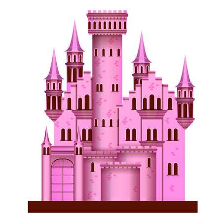 castillos de princesas: Castillo rosado