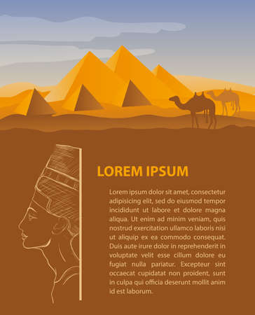 Egipto viajes plantilla de diseño