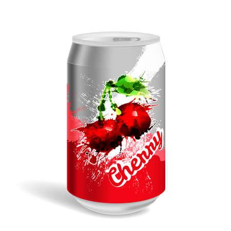 soda can: Aluminium soda can Illustration