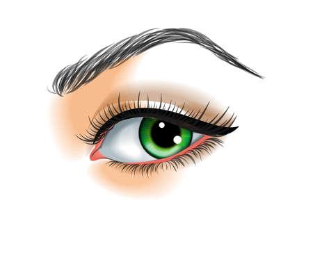 make up: Maquillage pour les yeux illustration vectorielle Illustration