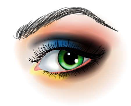 make up: D�maquillant pour les yeux, vecteur, Illustration Illustration