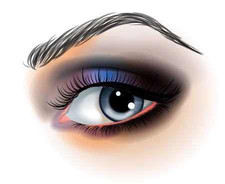 make up: Maquillage pour les yeux illustration