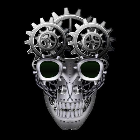 Steam punk skull