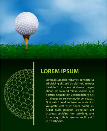 golf tee: Golf design template