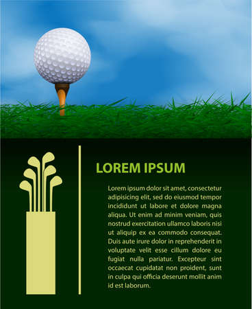 golf tee: Golf design template
