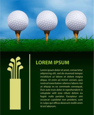 play golf: Golf design template