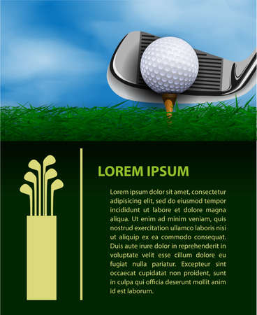 golf field: Golf design template
