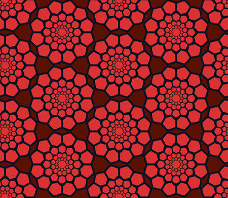 radial: Abstract geometric seamless radial pattern