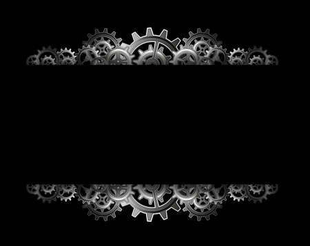 Steampunk gears frame Stock Vector - 24012677