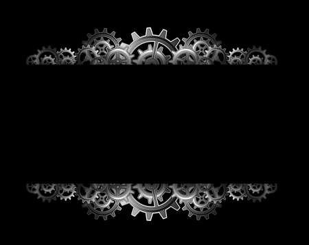 Steampunk Zahnräder Rahmen Standard-Bild - 24012677