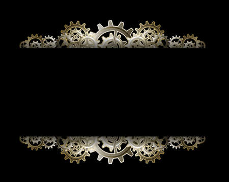 Steampunk gears frame Stock Vector - 24012680