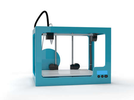 maquette: Empty 3d printer Stock Photo